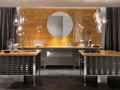 Итальянская кухня Luxury Glam Cuspide Laccato от Aster Cucine